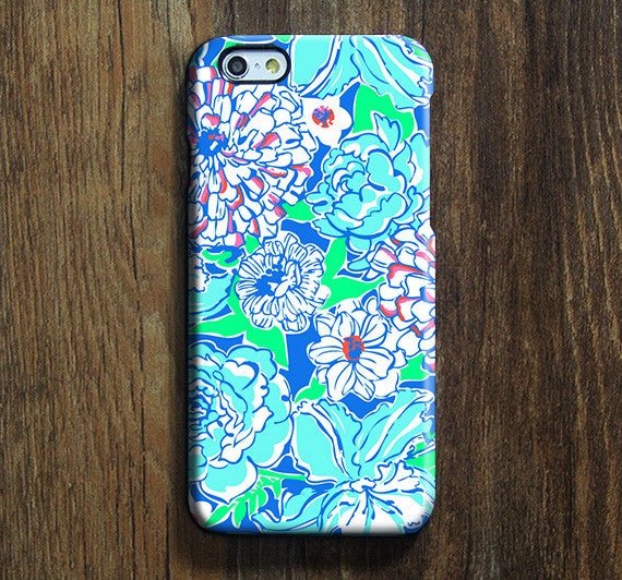 Blue White Floral iPhone 6s Plus SE Case iPhone 5s Case Galaxy S7 Edge Plus Case 138