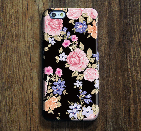 Classic Retro Floral iPhone XS Max Galaxy S8 Case  Case Samsung Galaxy Note 5 Case s6-143 - Apple iPhone Xs/iPhone Xr case by Retina Designs