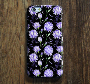 Black Violet ÌâåÊChic Floral iPhone XR Case Galaxy S8 Case iPhone XS Max Cover iPhone 8 SE  Galaxy S8 Galaxy S7 Galaxy Note 5 Phone Case 146 - Apple iPhone Xs/iPhone Xr case by Retina Designs