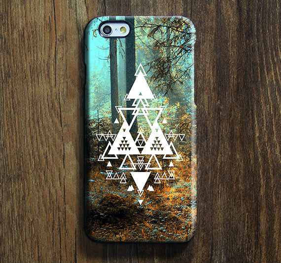 Forest Triangle iPhone XR Case Galaxy S8 Case iPhone XS Max Cover iPhone 8 SE  Galaxy S8 Galaxy S7 Galaxy Note 5 Phone Case 147 - Apple iPhone Xs/iPhone Xr case by Retina Designs