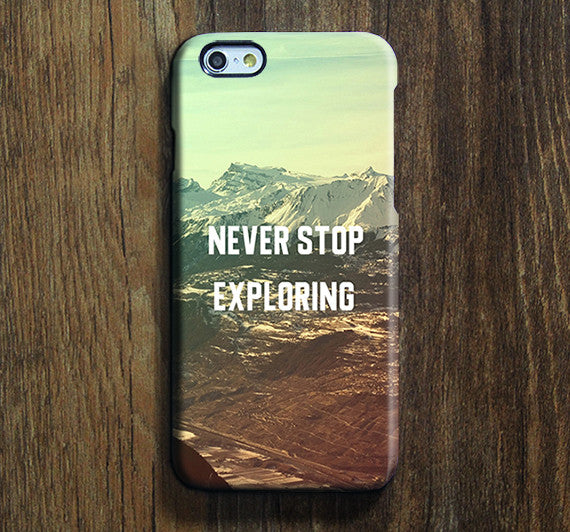 Mountain Never Stop Exploring Galaxy S8 Plus Case Galaxy S7 Case Samsung Galaxy Note 5  Phone Case s6-155 - Apple iPhone Xs/iPhone Xr case by Retina Designs