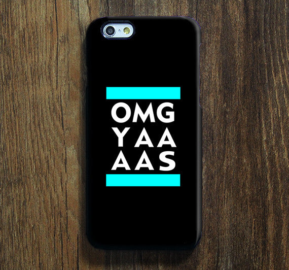 OMG YAAAS Galaxy S8 Plus Case Galaxy S7 Case Samsung Galaxy Note 5 Phone Case s6-156 - Apple iPhone Xs/iPhone Xr case by Retina Designs
