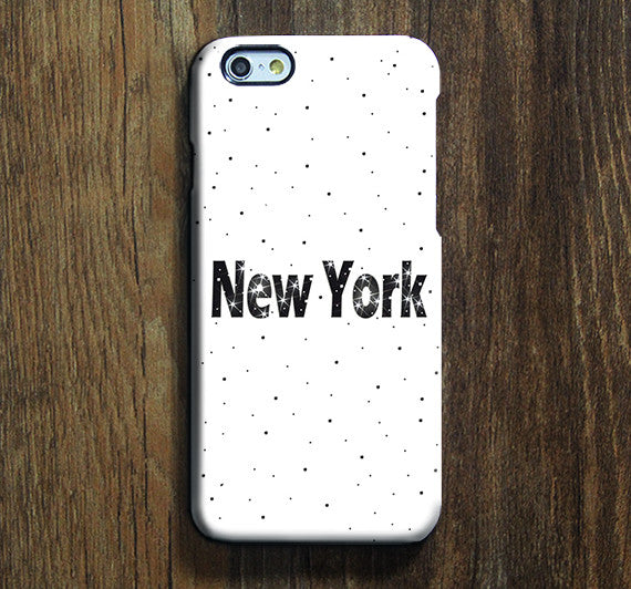 NEW York Dots iPhone 6s Case iPhone 6s Plus Case iPhone 6 Cover iPhone 5S 5 iPhone 5C iPhone 4/4s Galaxy S6 Edge Galaxy s6 s5 Galaxy Note 5 Phone Case 157