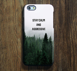 Stay Calm Forest iPhone XR Case Galaxy S8 Case iPhone XS Max Cover iPhone 8 SE  Galaxy S8 Galaxy S7 Galaxy Note 5 Phone Case 161