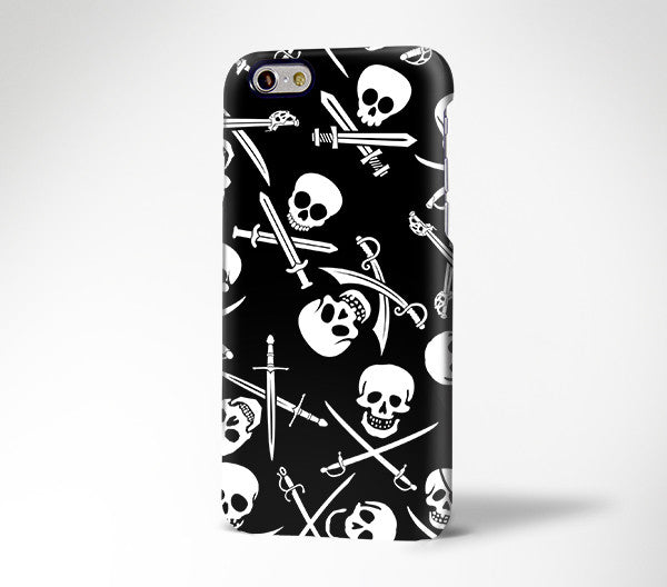 Pirate Pattern Skeleton iPhone XR / 6s Plus Case  / Edge Plus Case 168 - Apple iPhone Xs/iPhone Xr case by Retina Designs