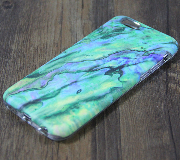 Marble Turquoise Green Stone Tough Protective iPhone 6s Case iPhone 6 plus Case 3D 194 - Apple iPhone Xs/iPhone Xr case by Retina Designs