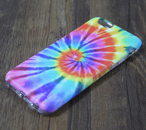 Rainbow Tie-Dye Tough Protective iPhone XS Max Case iPhone 7 plus SE S7 Edge Snap Case 3D 200 - Apple iPhone Xs/iPhone Xr case by Retina Designs