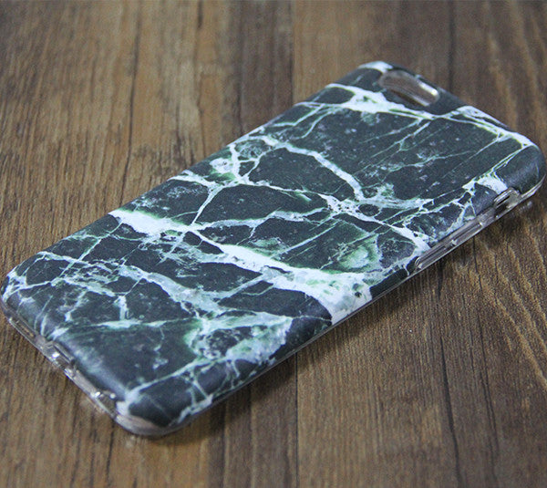 Natural Marble Black Print Tough Protective iPhone XS Max Case Galaxy S8 plus S7 Edge SE Snap Case 3D 209 - Apple iPhone Xs/iPhone Xr case by Retina Designs