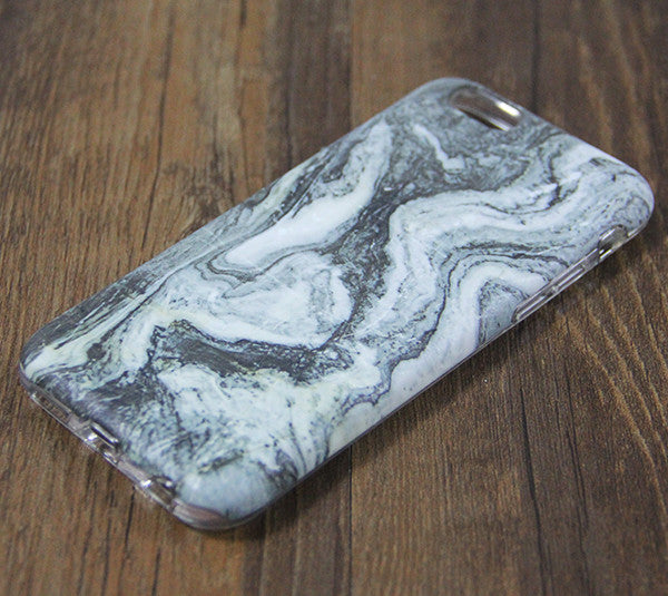 Natural Marble Grey Print Tough Protective iPhone XS Max Case Galaxy S8 plus S7 Edge SE Snap Case 3D 210 - Apple iPhone Xs/iPhone Xr case by Retina Designs