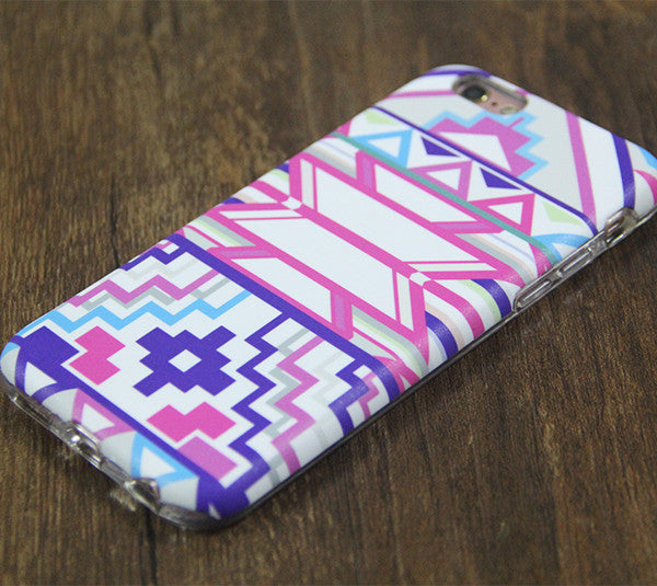 Ethnic Tribal Pink Tough Protective iPhone XS Max Case Galaxy S8 plus S7 Edge SE Snap Case 3D 213 - Apple iPhone Xs/iPhone Xr case by Retina Designs