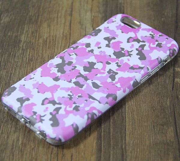 Cute Pink Seamless Camo Protective iPhone XS Max Case Galaxy S8 plus S7 Edge SE Snap Case 3D 218 - Apple iPhone Xs/iPhone Xr case by Retina Designs