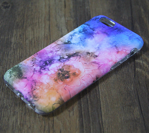Nebula Galaxy Floral Tough iPhone XS Max SE Case Galaxy S8 plus S7 Edge Case 221 - Apple iPhone Xs/iPhone Xr case by Retina Designs