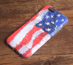 Watercolor United States Flag Tough iPhone XS Max SE Case Galaxy S8 plus S7 Edge Case 223 - Apple iPhone Xs/iPhone Xr case by Retina Designs