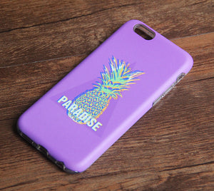 Paradise Pineapple Fruit Tough iPhone XS Max SE Case Galaxy S8 plus S7 Edge Case 224 - Apple iPhone Xs/iPhone Xr case by Retina Designs