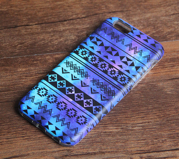 Nebula Aztec Stripes Tough iPhone XS Max SE Case Galaxy S8 plus S7 Edge Case 226 - Apple iPhone Xs/iPhone Xr case by Retina Designs