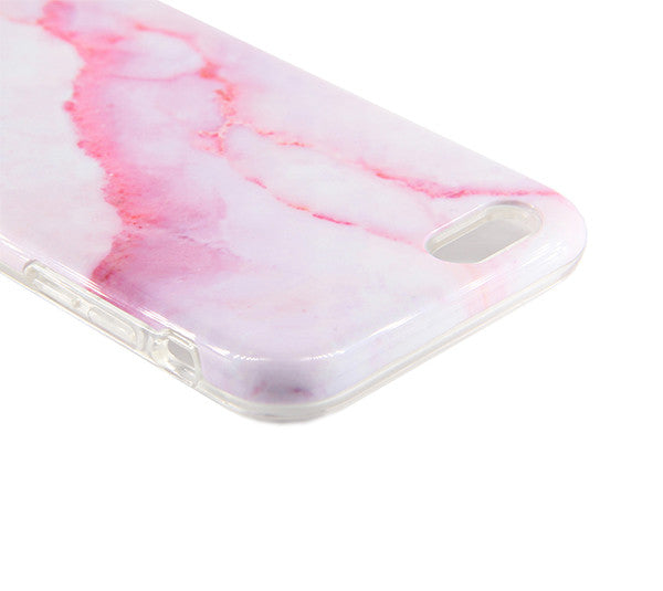 Pink Marble Stone Print Tough Protective iPhone XS Max Case Galaxy S8 plus S7 Edge SE Snap Case 230 - Apple iPhone Xs/iPhone Xr case by Retina Designs