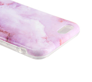 Purple Natural Marble Stone Print Tough Protective iPhone XS Max Case Galaxy S8 plus S7 Edge SE Snap Case 231 - Apple iPhone Xs/iPhone Xr case by Retina Designs