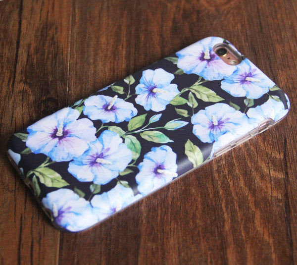 Flowers Morning Glory Tough Protective iPhone 6s Case iPhone 6 plus S7 Edge SE Snap Case 241