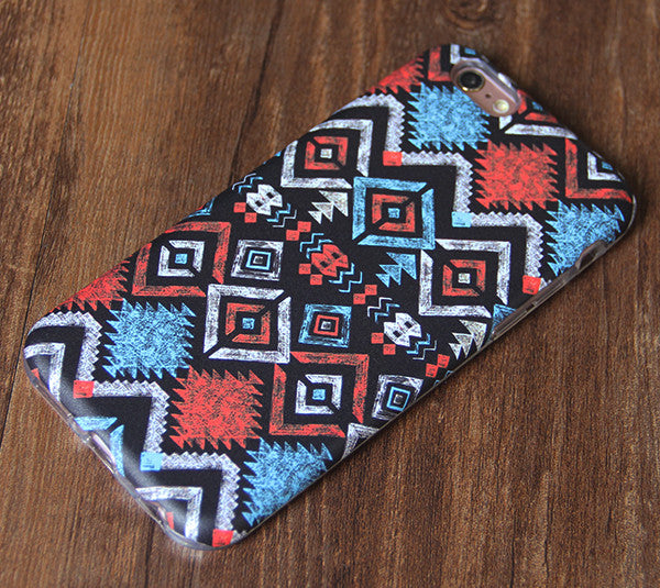 Tribal Ethnic Pattern Tough Protective iPhone XS Max Case Galaxy S8 plus S7 Edge SE Snap Case 242 - Apple iPhone Xs/iPhone Xr case by Retina Designs