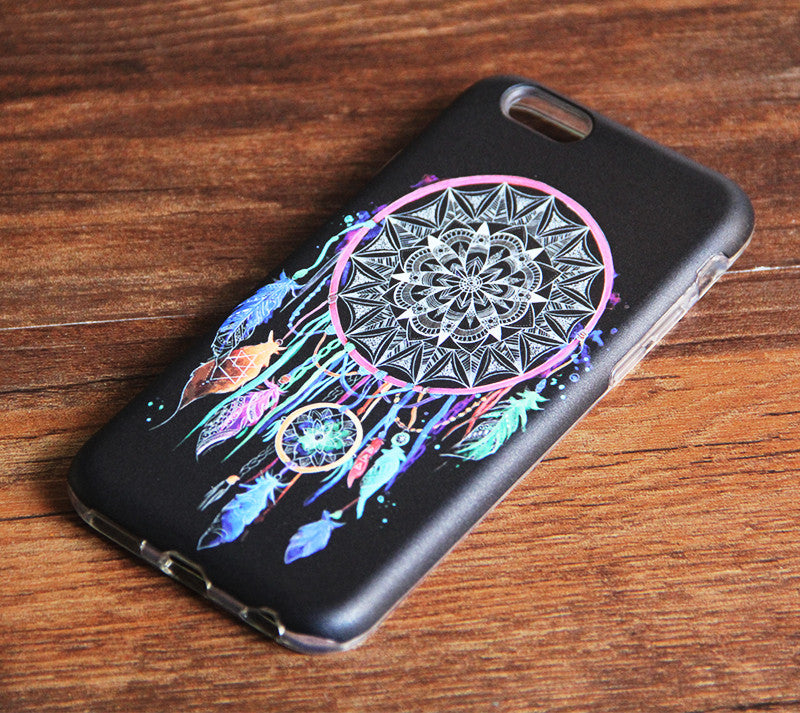 Black Colorful Dreamcatcher iPhone 7 plus 6s/6 Tough case iPhone 7 Protective case 246 - Apple iPhone Xs/iPhone Xr case by Retina Designs