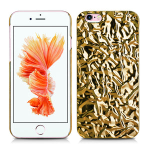 Aluminum Foiled Gold Wave iPhone 6/6s Case iPhone 6/6s Plus Case 12G - Apple iPhone Xs/iPhone Xr case by Retina Designs