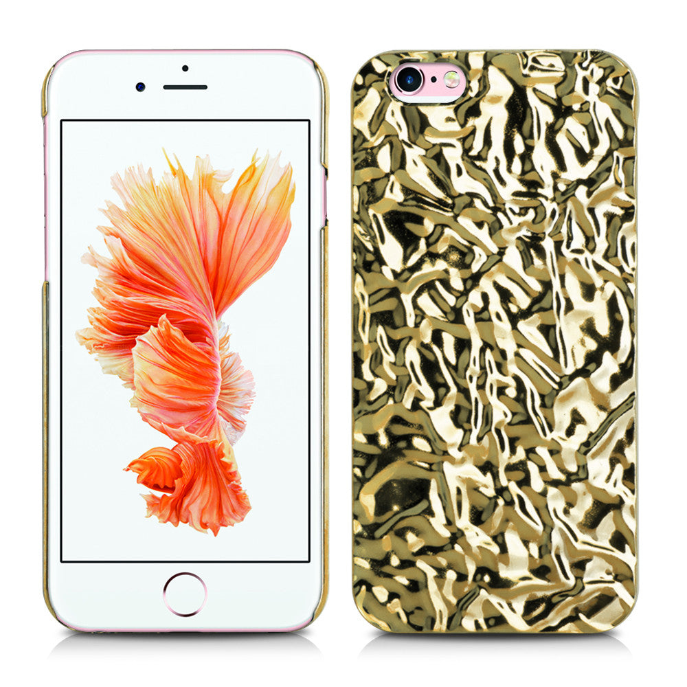 Aluminum Foiled Light Gold Wave iPhone 6/6s Case iPhone 6/6s Plus Case 11LG - Apple iPhone Xs/iPhone Xr case by Retina Designs