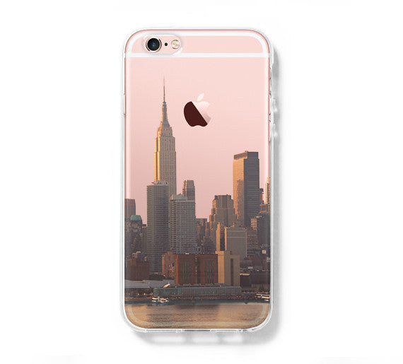 promo code aa5f4 a6a1f New York Cityscape iPhone 6S case iPhone 6 plus Case iPhone 5s 5 Case  iPhone 5C Clear Case C0001