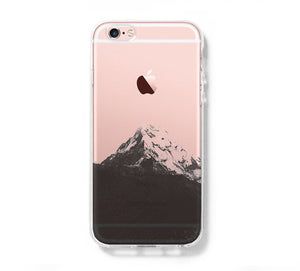 Snow Mountain iPhone 6S case iPhone 6 plus Clear Case iPhone 5s 5 Case iPhone 5C Cover Hard Transparent iPhone Case C0002 - Apple iPhone Xs/iPhone Xr case by Retina Designs
