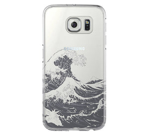 Ocean Wave Samsung Galaxy S6 Edge Clear Case Galaxy S6 Transparent Case Samsung S5 Hard Cover C0003 - Apple iPhone Xs/iPhone Xr case by Retina Designs