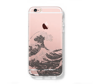 Japanese Ocean Wave iPhone 6s 6 Clear Case iPhone 6s plus Cover iPhone 5S 5 5C Hard Transparent Case C0003 - Retina Designs