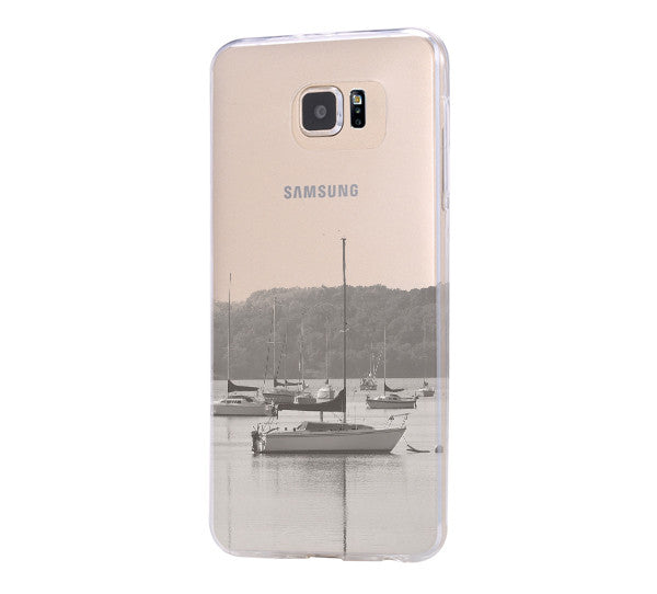 Village River Boats Samsung Galaxy S6 Edge Clear Case Galaxy S6 Transparent Case Samsung S5 Hard Cover C0005 - Apple iPhone Xs/iPhone Xr case by Retina Designs