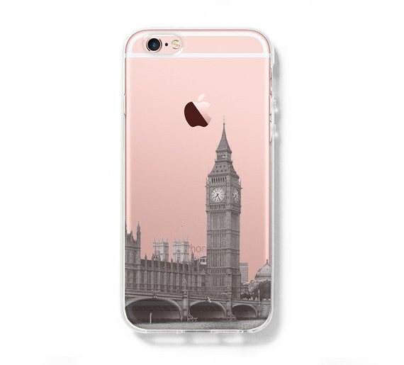 London Big Ben Westminster Bridge iPhone 6s Clear Case iPhone 6 plus Cover iPhone 5S 5 5C Hard Transparent Case C010 - Apple iPhone Xs/iPhone Xr case by Retina Designs