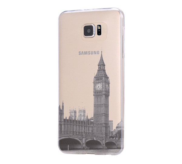 London Big Ben Westminster Bridge Samsung Galaxy S6 Edge Clear Case Galaxy S6 Transparent Case Samsung S5 Hard Cover C010