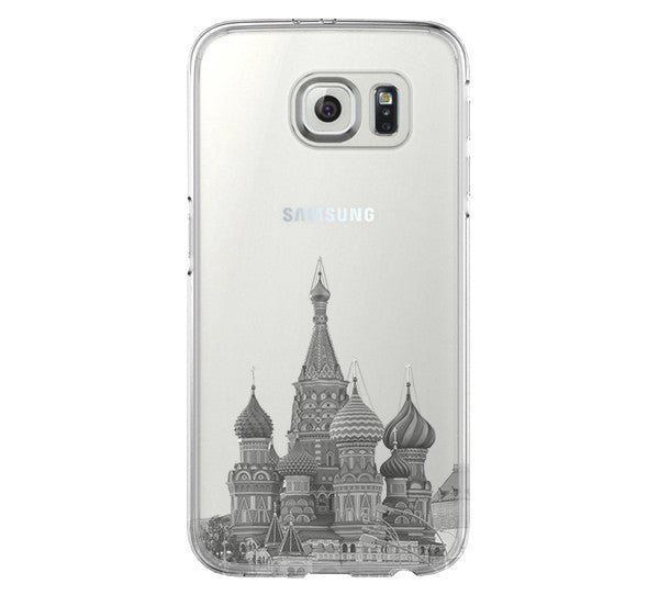 Moscow Kremlin Russia Cityscape Samsung Galaxy S6 Edge Clear Case Galaxy S6 Transparent Case Samsung S5 Hard Cover C0001 - Apple iPhone Xs/iPhone Xr case by Retina Designs
