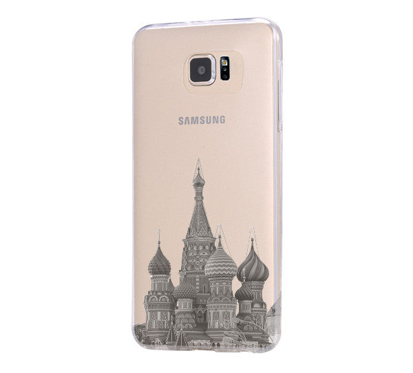 Moscow Kremlin Russia Cityscape Samsung Galaxy S6 Edge Clear Case Galaxy S6 Transparent Case Samsung S5 Hard Cover C0001