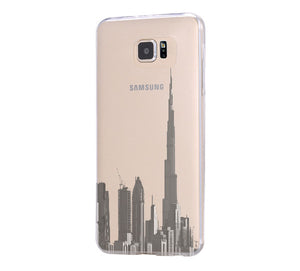 Burj Dubai of the United Arab Emirates Skyline Samsung Galaxy S6 Edge Clear Case Galaxy S6 Transparent Case Samsung S5 Hard Cover C013 - Apple iPhone Xs/iPhone Xr case by Retina Designs