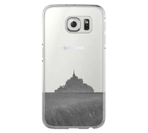 Mont Sanit Michel France Samsung Galaxy S6 Edge Clear Case Galaxy S6 Transparent Case Samsung S5 Hard Cover C0001