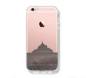 Mont Sanit Michel France iPhone 6s Clear Case iPhone 6 Cover iPhone 5S 5 5C Hard Transparent Case C014 - Apple iPhone Xs/iPhone Xr case by Retina Designs