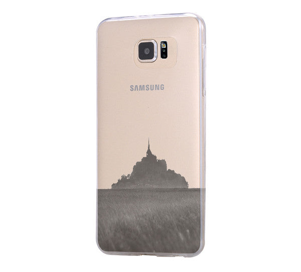Mont Sanit Michel France Samsung Galaxy S6 Edge Clear Case Galaxy S6 Transparent Case Samsung S5 Hard Cover C0001 - Apple iPhone Xs/iPhone Xr case by Retina Designs