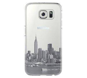 New York City Skyline Hudson River NYC Samsung Galaxy S6 Edge Clear Case Galaxy S6 Transparent Case Samsung S5 Hard Cover C0001 - Apple iPhone Xs/iPhone Xr case by Retina Designs