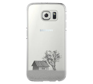 Rural Scenery in the Spring Samsung Galaxy S6 Edge Clear Case Galaxy S6 Transparent Case Samsung S5 Hard Cover C016 - Apple iPhone Xs/iPhone Xr case by Retina Designs