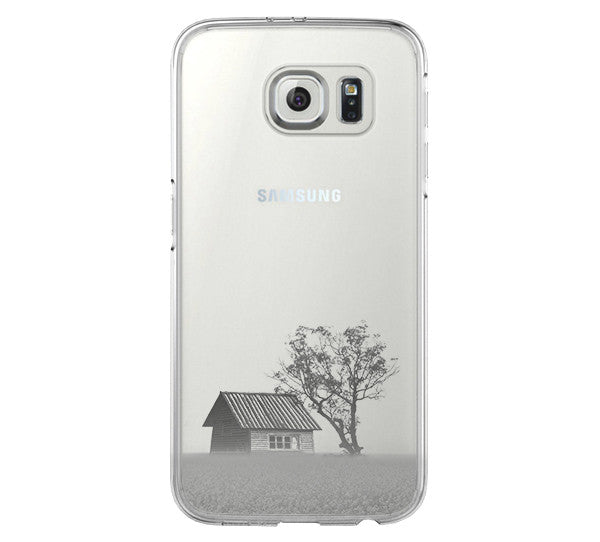 Rural Scenery in the Spring Samsung Galaxy S6 Edge Clear Case Galaxy S6 Transparent Case Samsung S5 Hard Cover C016