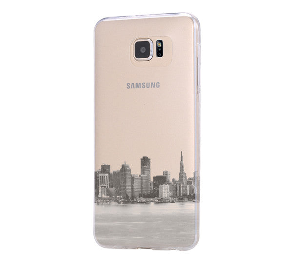 Urban San Francisco Skyline Samsung Galaxy S6 Edge Clear Case Galaxy S6 Transparent Case Samsung S5 Hard Cover C017 - Apple iPhone Xs/iPhone Xr case by Retina Designs