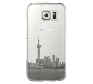 Pudong Skyline Shanghai China Samsung Galaxy S6 Edge Clear Case Galaxy S6 Transparent Case Samsung S5 Hard Cover C018 - Apple iPhone Xs/iPhone Xr case by Retina Designs