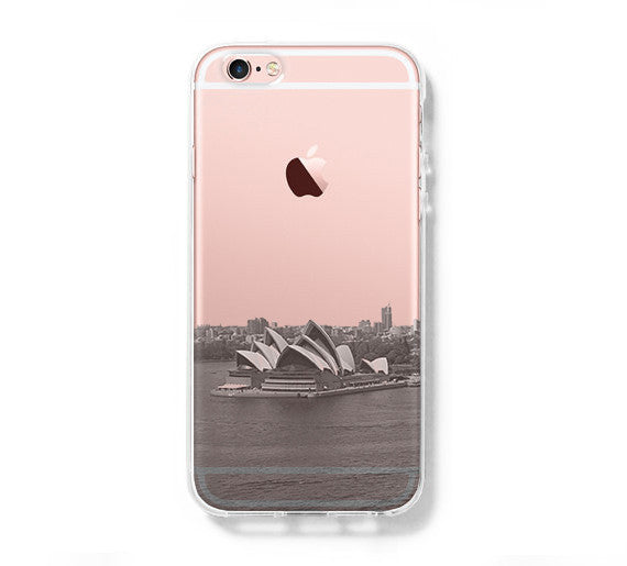 Sydney Opera Skyline iPhone 6s Clear Case iPhone 6 Cover iPhone 5S 5 5C Hard Transparent Case C020