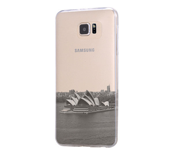 Sydney Opera Skyline Samsung Galaxy S6 Edge Clear Case Galaxy S6 Transparent Case Samsung S5 Hard Cover C020