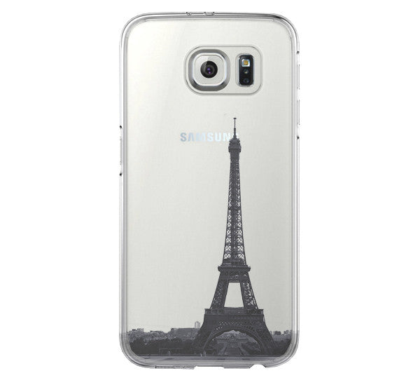 Eiffel Tower Paris France Samsung Galaxy S6 Edge Clear Case Galaxy S6 Transparent Case Samsung S5 Hard Cover C021 - Apple iPhone Xs/iPhone Xr case by Retina Designs