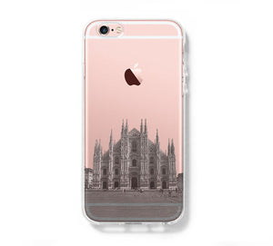Milan Cathedral Antique Italy iPhone 6s Clear Case iPhone 6 Cover iPhone 5S 5 5C Hard Transparent Case C022 - Apple iPhone Xs/iPhone Xr case by Retina Designs
