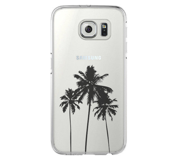 Palm Tree California Samsung Galaxy S6 Edge Clear Case Galaxy S6 Transparent Case Samsung S5 Hard Cover C025 - Apple iPhone Xs/iPhone Xr case by Retina Designs