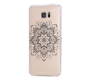 Art Floral Pattern Samsung Galaxy S6 Edge Clear Case Galaxy S6 Transparent Case Samsung S5 Hard Cover C026 - Apple iPhone Xs/iPhone Xr case by Retina Designs